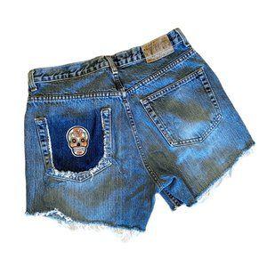 Vintage high waist cut off jean shorts